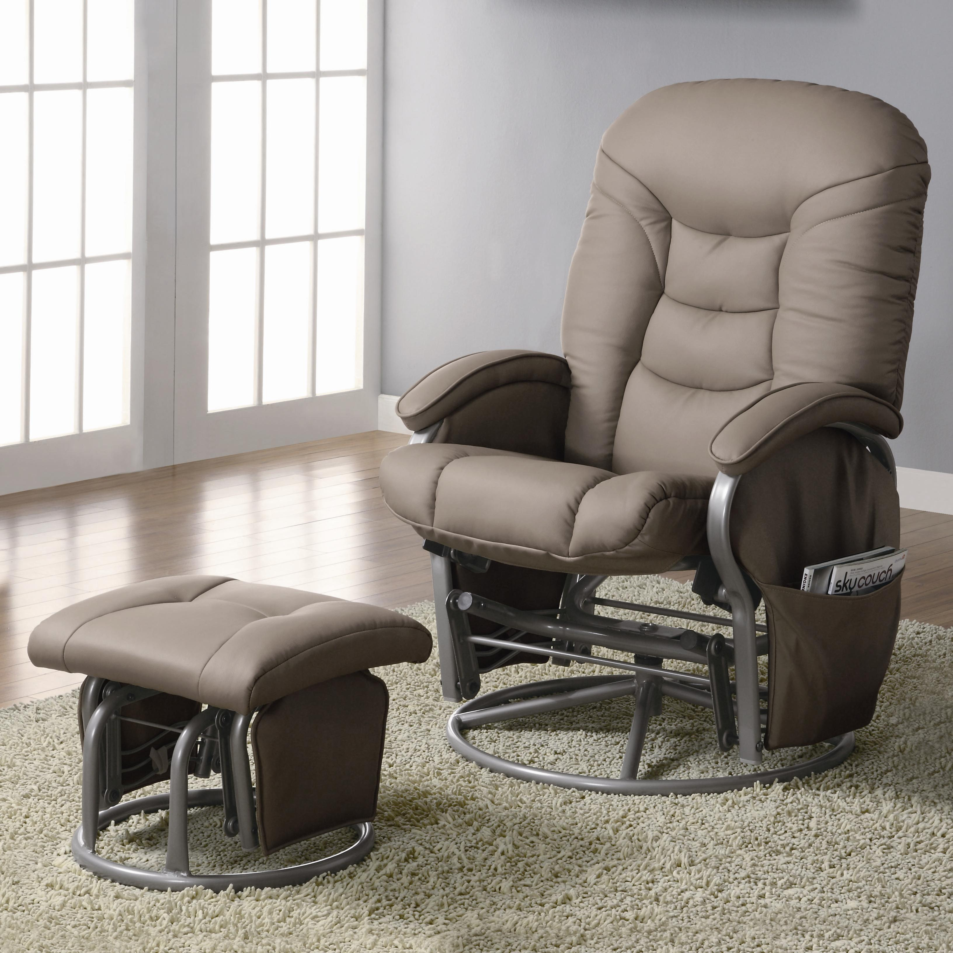 Recliners with Ottomans Glider Recliner with Ottoman by Coaster at Northeast Factory Direct