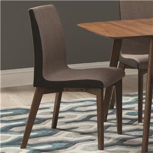 Dining Side Chair with Curved Back