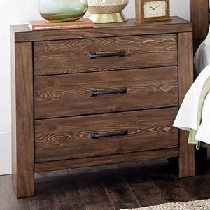 3 Drawer Nightstand with Dual USB Ports