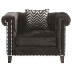 Chair with Greek Key Nailhead Trim Design