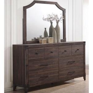 6 Drawer Dresser Mirror Combo