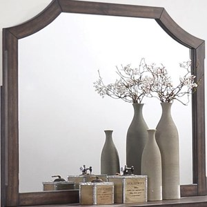 Dresser Mirror With Curved Top Corners