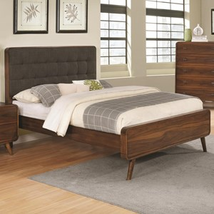 King Bed with Tufted Upholstered Headboard