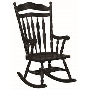 Traditional Country Wood Rocker