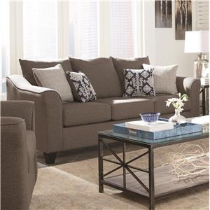 Grey Sofa with Flared Arms