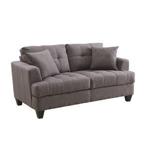 Loveseat with Tufted Cushions