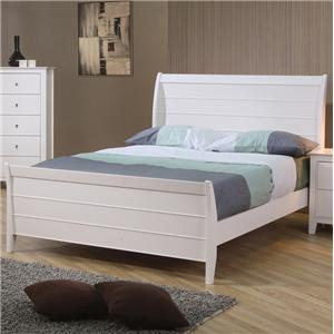 Twin Sleigh Bed with Panel Detail