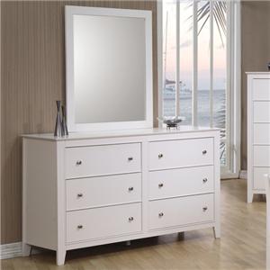 6 Drawer Dresser & Landscape Mirror
