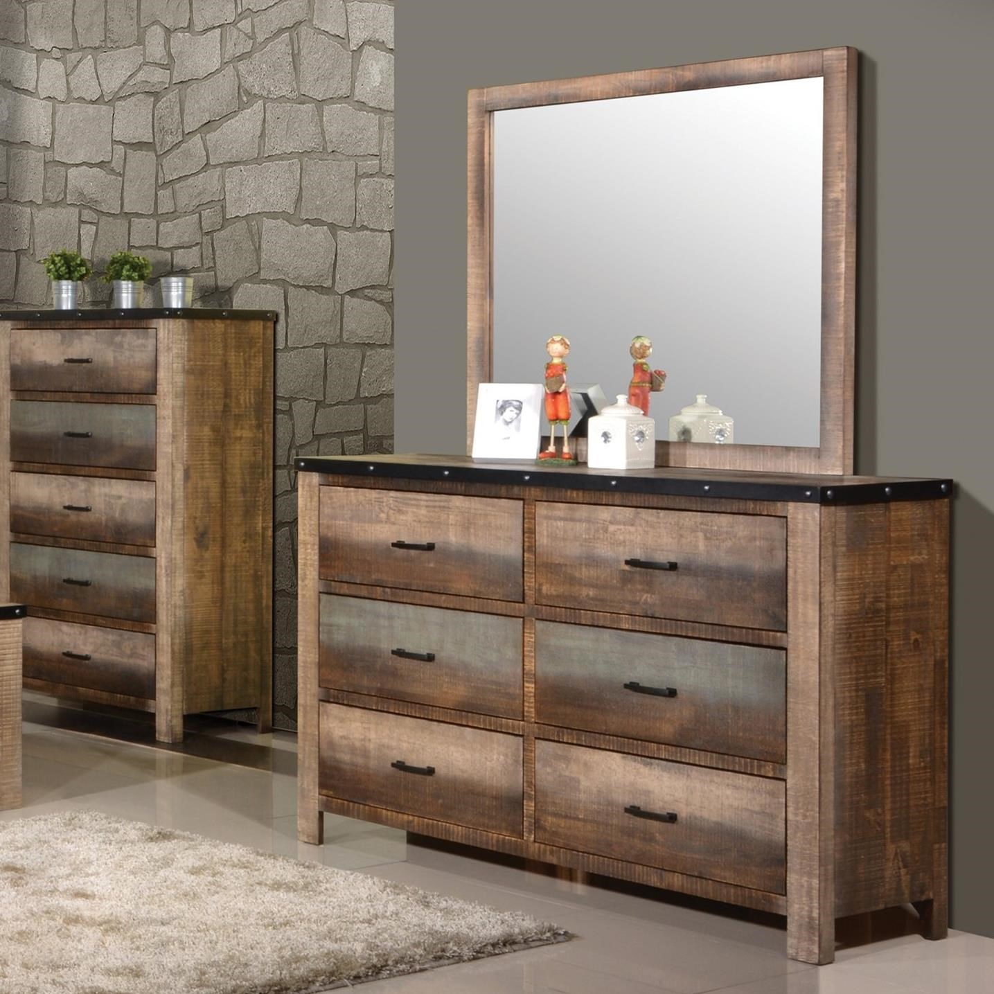 Sembene Dresser and Mirror Set by Coaster at Northeast Factory Direct