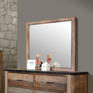 Mirror with Rustic Wood Frame