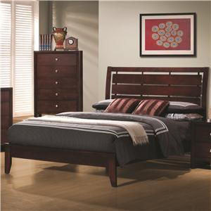 Queen Bed with Cut-Out Headboard Design