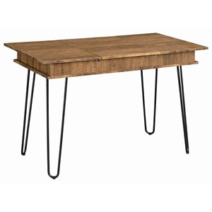 Industrial Table Desk with Hairpin Legs and AC / USB Outlets