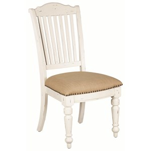 Upholstered Dining Side Chair with Nailhead Trim