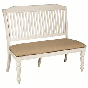 Upholstered Dining Bench with Nailhead Trim