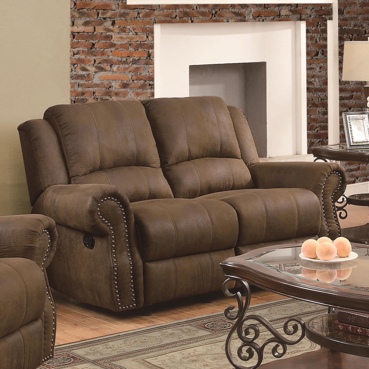 Sir Rawlinson Gliding Love Seat by Coaster at Lapeer Furniture & Mattress Center