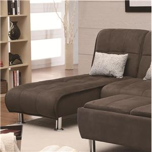Coaster Sofa Beds and Futons Chaise Sofa