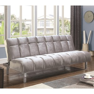 Contemporary Sofa Bed with Channeled Design
