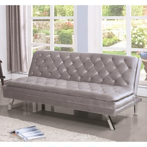 Glamorous Sofa Bed with Diamond Tufting