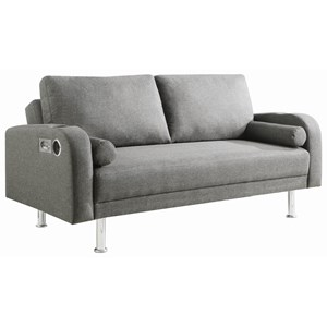 Contemporary Sofa Bed with Bluetooth / AUX Speakers