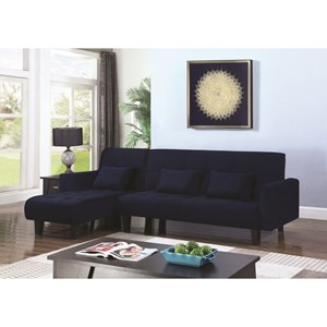 Sofa Bed and Chaise with Button Tufting