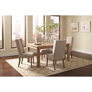 Rectangular Table Set with Wingback Chairs