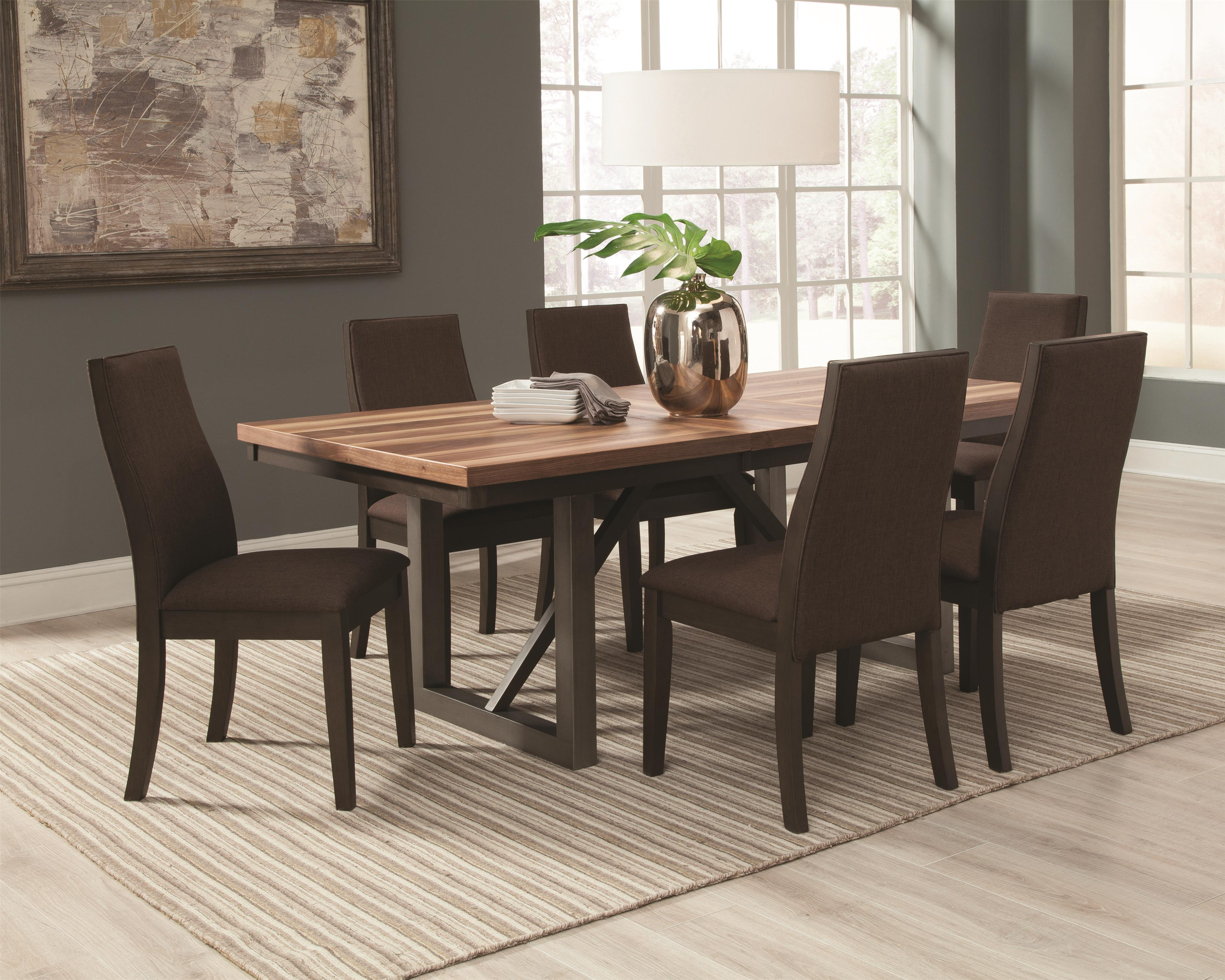 Spring Creek 7 Piece Table and Chairs Set by Coaster at Northeast Factory Direct