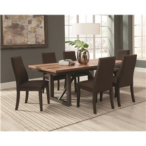 7 Piece Table and Side Chairs Set