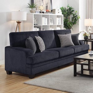 Casual Sofa with Complementing Toss Pillows