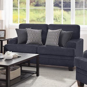 Casual Loveseat with Complementing Toss Pillows