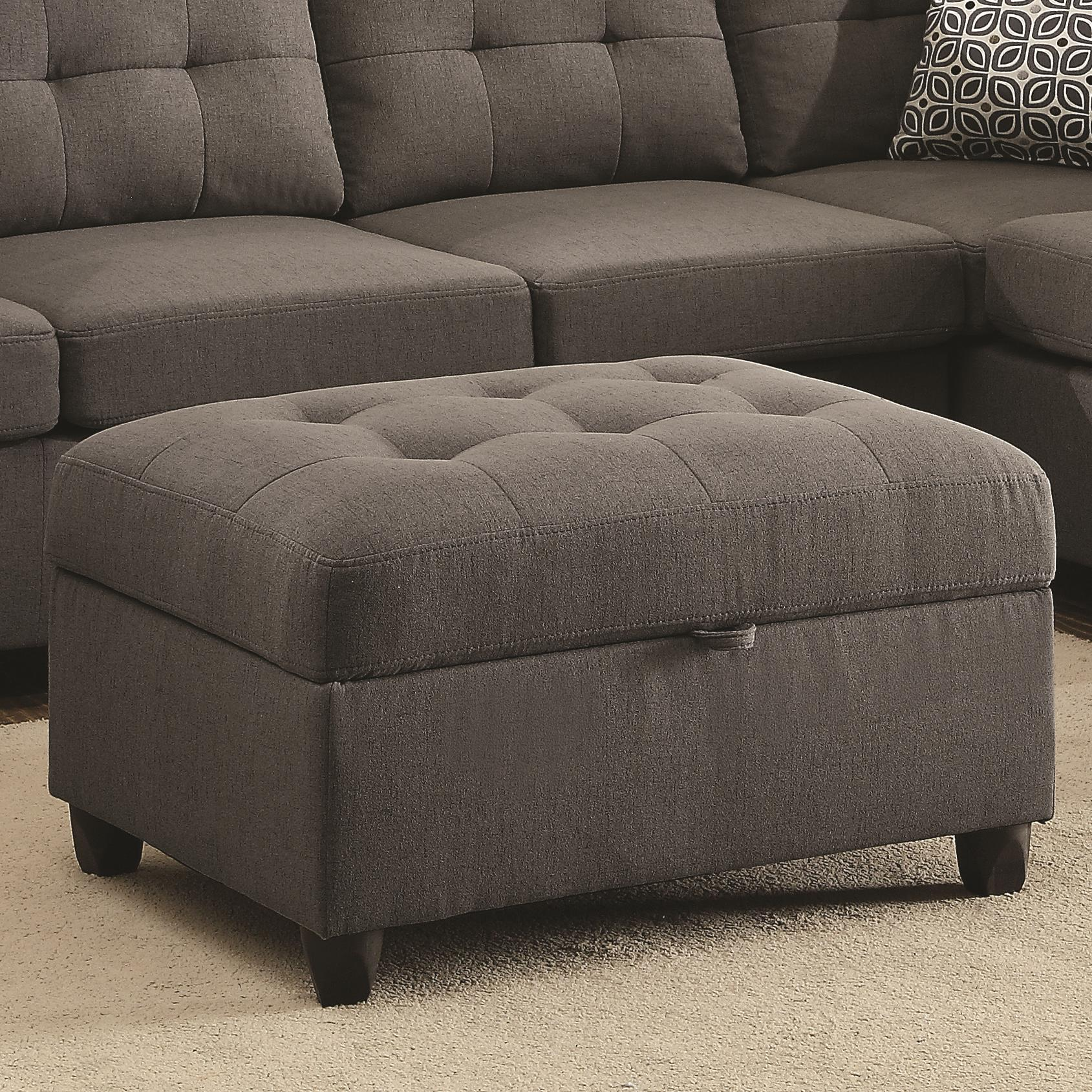Stonenesse Storage Ottoman by Coaster at Value City Furniture