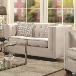 Tufted Transitional Loveseat