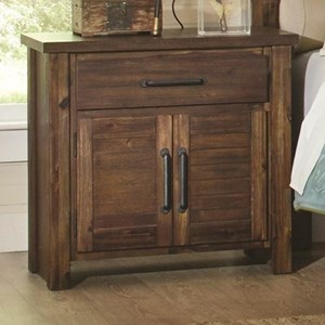 Nightstand with 2 Doors & 1 Drawer