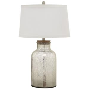 Mercury Glass Look Table Lamp