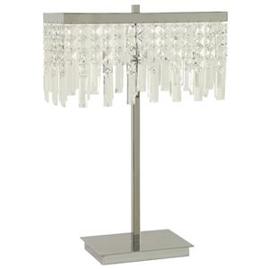 Dropped Crystal Shade Table Lamp