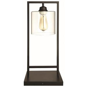 Black Industrial Edison Design Table Lamp