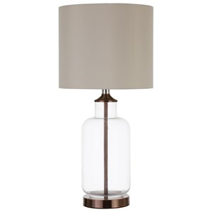 Table Lamp with Clear Glass Base