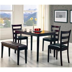 5 Piece Dining Set with Bench