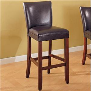 "29"" Faux Leather Bar Stool"