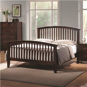 Queen Headboard & Footboard Bed with Tapered Legs