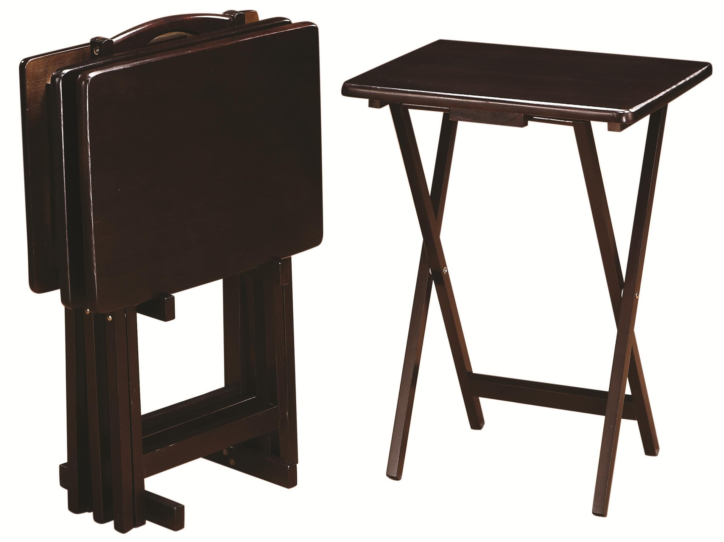 Tray Tables 5 Piece Tray Table Set by Coaster at Northeast Factory Direct
