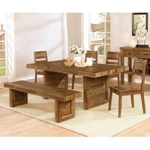 6 Piece Table and Chair Set with Bench