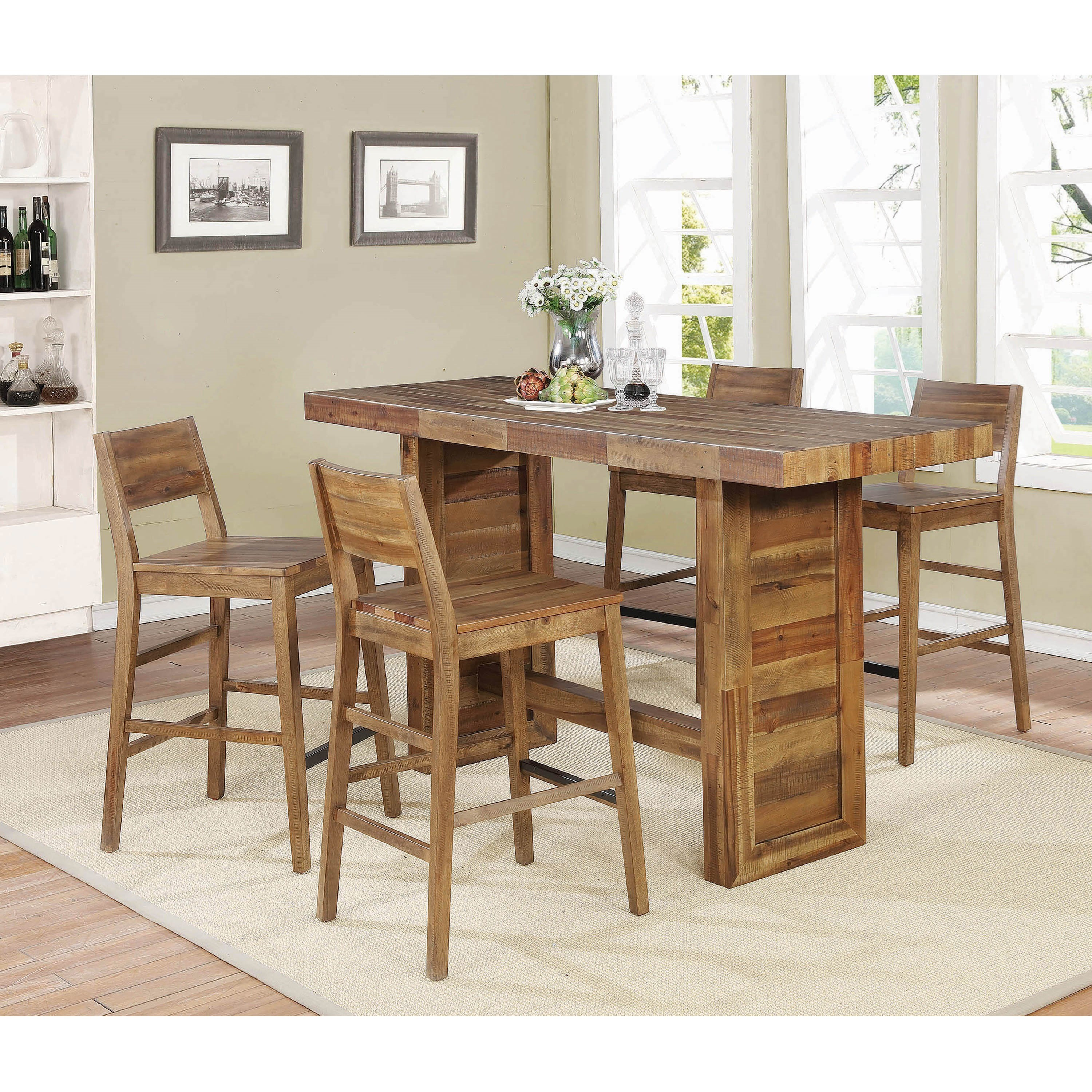 5 Piece Bar Table and Stool Set