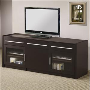 Coaster TV Stands TV Console with Hidden Mobile Computer Caddy