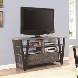 Two-Tone Trapezoid TV Stand