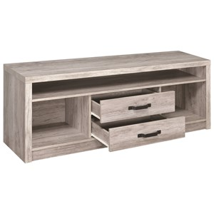 Modern TV Console with Grey Finish