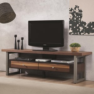 Clean Two-Tone TV Console