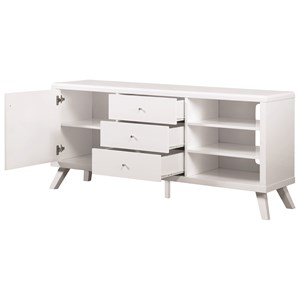 Contemporary High Gloss TV Stand