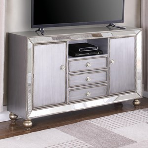 "Glam Mirrored 60"" TV Stand"