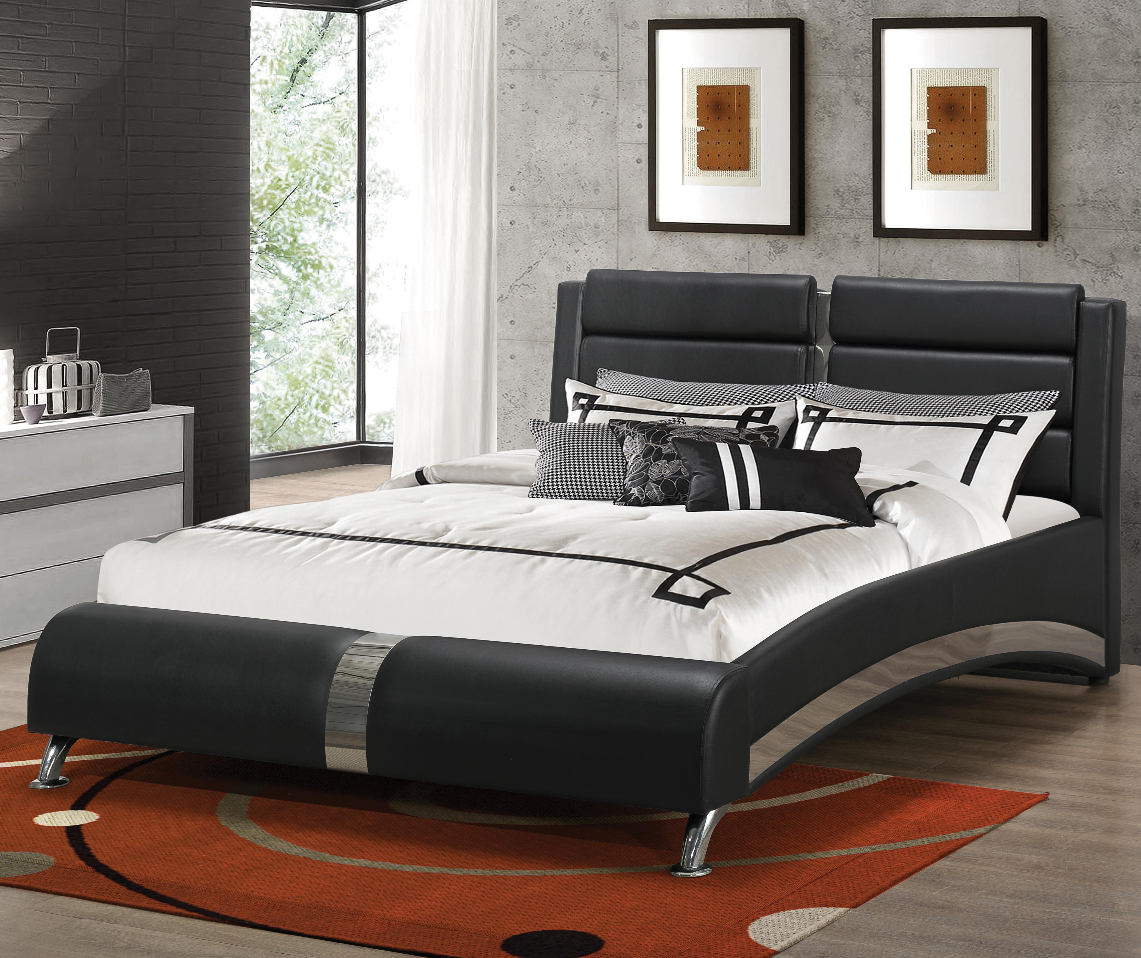 Upholstered Beds Queen Jeremaine Upholstered Bed by Coaster at Pedigo Furniture