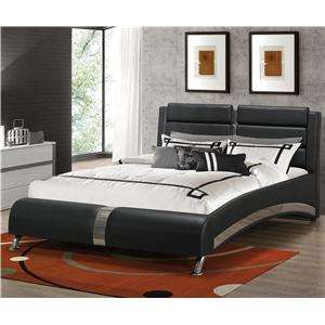 Modern King Jeremaine Upholstered Bed